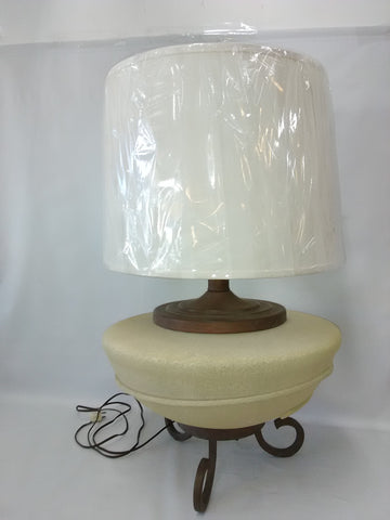 Table Lamp Brown Finish Scavo Glass Base 07-118-JSH-21