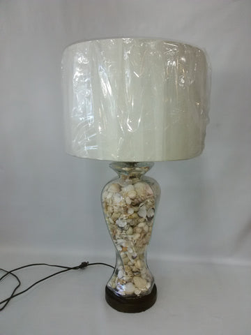 Table Lamp Dark Metal Base Glass And Shells 7218-48-JSH-009
