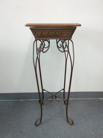 Accessories Bronze And Wood Table 20-218-JSH-48