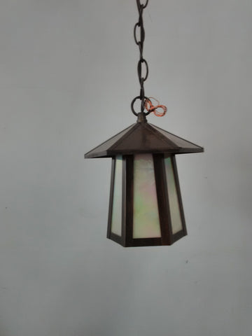 Outdoor Hanging Solid Brass Bronze Finish And Iradecent Glass 18218-48-JSH-997