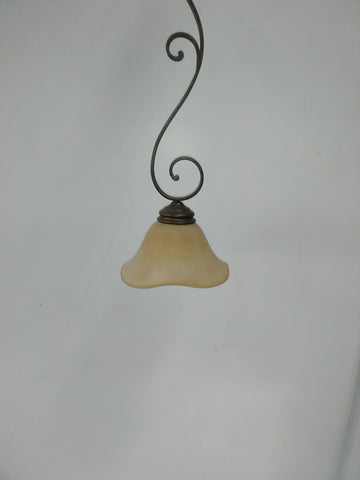 Mini Pendant Bronze Finish Cream Glass Shade 3218-JSH-22-7
