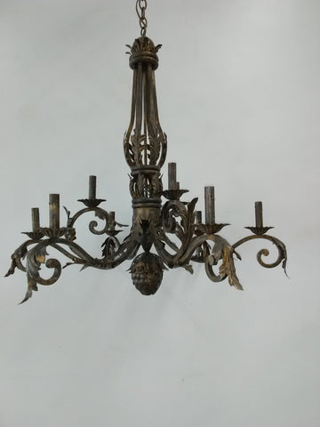 Chandelier Iron Frame Light Brown Finish  01-118-JSH-CH56