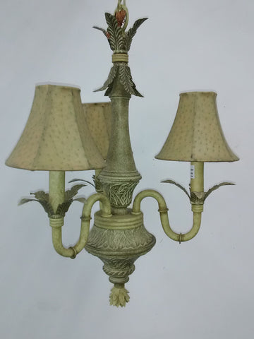 Chandelier Champagne Finish Resin and Metal Frame With Lamp Shades 01-118-JSH-CH11