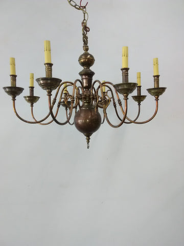Chandelier Solis Brass And Cooper Finish  1218-JSH-MAY-1