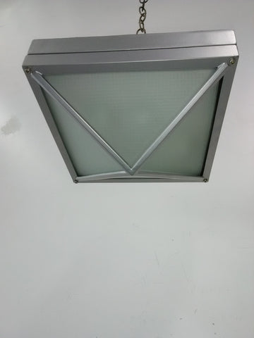 Outdoor Flush Satin Nickel Finish And Frosted Glass 16218-JSH-48-M2