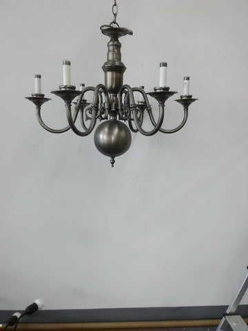Chandelier Solid Brass Pewter Finish 1218-JSH-FOR-6
