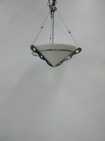 Pendant Pewter Finish And Opal Glass 2218-FRM-1
