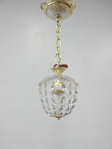 Mini Pendant Gold And Hand Cut Crystal 3218-JSH-JMC-8