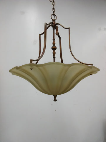 Chandelier Cooper Finish And Cream Glass 1218-JSH-MF-06