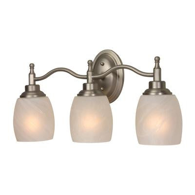 Vanity Light Brushed Nickel and Alabaster White Glass#90813-276