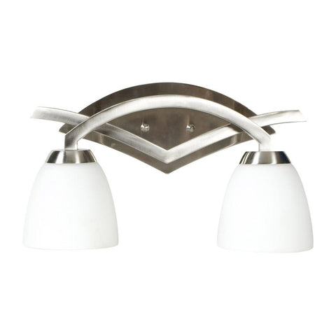 Vanity Light Brushed Nickel Finish And Frosted Glass #090801-315