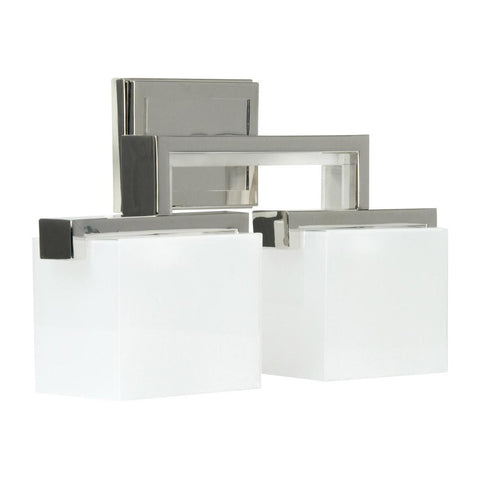 Vanity Light Polished Nickel Finish and Frosted Glass #90813-302