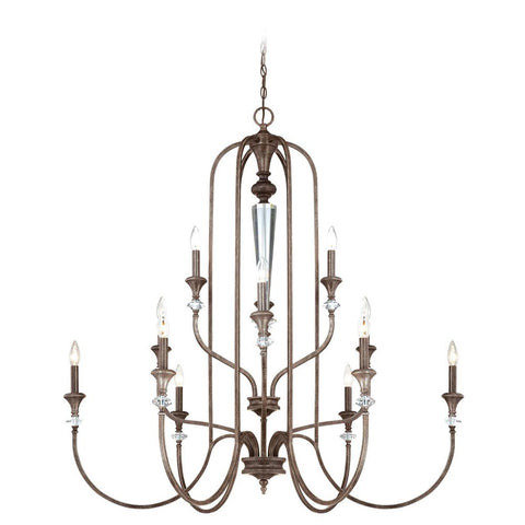 Chandelier Mocha Bronze Finish and Silver Accents 010103-16