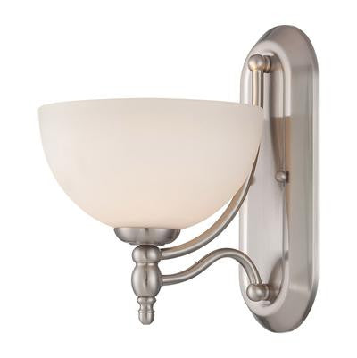Wall Sconse Satin Nickel And Frosted Glass #100801-243