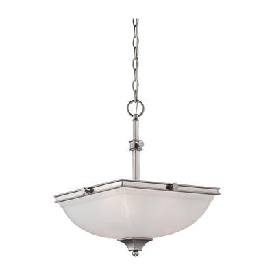 Pendant  Brushed Nickel and White Glass #020801-170