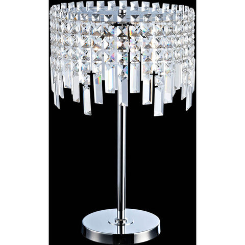 Table Lamp Chrome Finish And Crystal Shade #060833-014