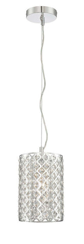 Mini Pendant Chrome Finish And Crystal Drops #030833-014 FP