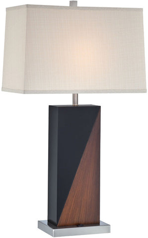Table Lamp Polished Steel Finish  And Material Shade #070833-14