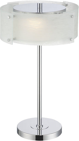 Table Lamp Chrome Finish And Frosted Glass #070833-14