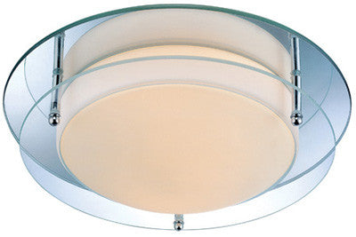 Flush Mount Chrome Frame With Mirror and Frost Glass #140833-014