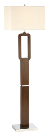 Floor Lamp Walnut Finish and Brushed Nickel Finish 3306118-83022
