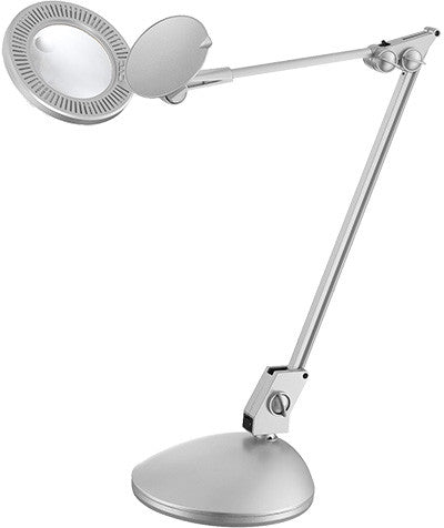 Desk Lamp Silver Finish  Magnifier Led #080833-07