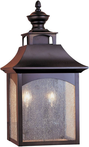 Outdoor Wall Light Oil Bronze Finish And Seedy Glass #170940-014
