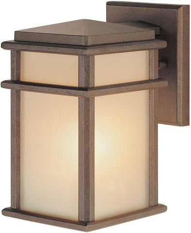 Outdoor Wall Light Bronze Finish And Cream Glass #170940-450