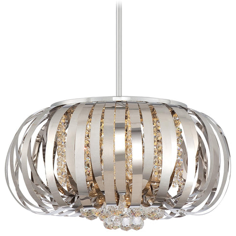 Pendant Chrome Finish And Crystal #020824-14 FP