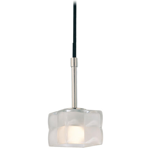 Mini Pendant Polished Nickel And Clear and Etched Glass #030824-75 FP