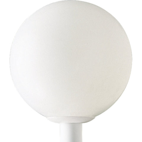 "Outdoor Post   White Base And 12"" Acrylic Globe #190903-14"