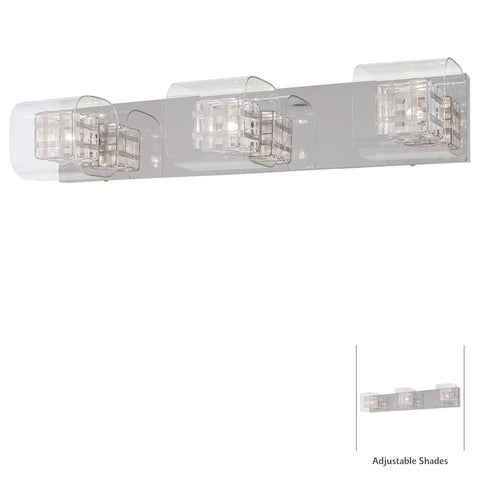 Vanity Light Chrome Finish And Clear Glass #100824-21