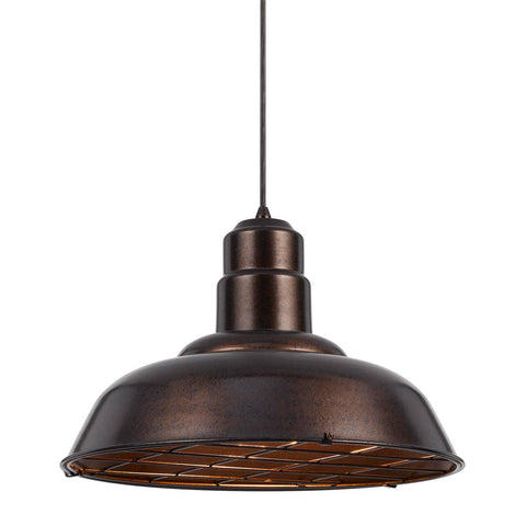 Pendant Rust Finish Metal With Black Cord 02518-CAL-JSH