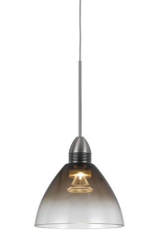Mini Pendant Brushed Nickel Finish And Clear Glass #030823-14