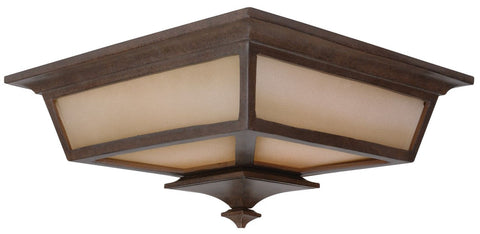Outdoor Flush Mount Bronze Finish And cream Glass 618-16-01-JRML