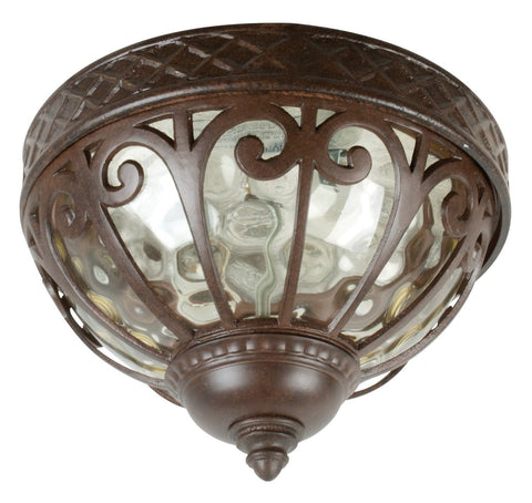Outdoor Flush Mount Bronze And Champagne Hummer Glass 16-01-JRM-618