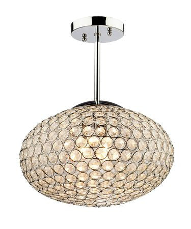 Pendant Chrome Finish And Crystal #020807-21
