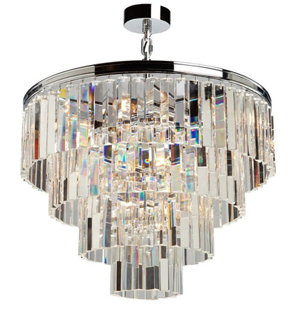 Chandelier Chrome Finish And Optic Crystal #010807-08