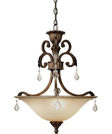 Pendant Bronze Finish With Crystal drops #020807-81
