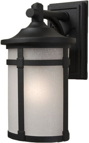 Outdoor Wall Light Black and Frost Glass # 170907-221