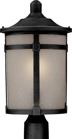OutDoor Post Lamp Black Finish And Frosted Glass #190907-015