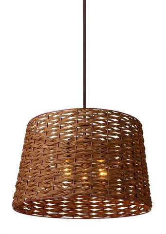 Pendant Brown Finish and Brown Shade #020807-015