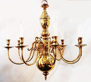 Chandelier Solid Brass Metal Frame  01-118-JSH-CH75