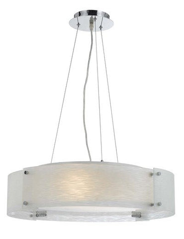 Pendant Chrome Finish With Shimmery Glass #020823-014