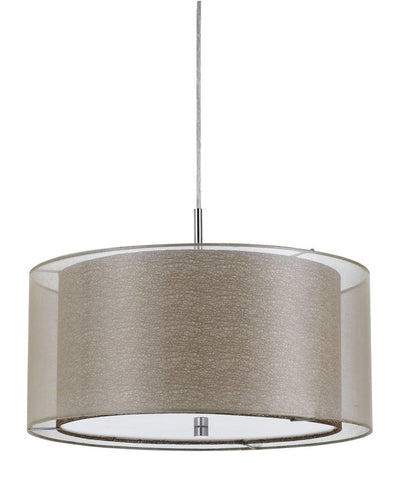 Pendant Satin Nickel Finish With Fabric Shade  #020823-013