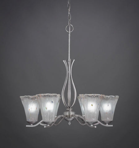 Chandelier Aged Silver Finish With Glass 1-618-47-JSH