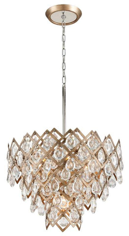 Chandelier Sienna Bronze Finish and Crystal 010231-16