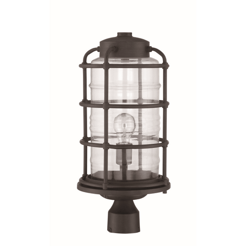 Outdoor Post Lamp  Bronze Finish 19-01-418-JSH-CMBZ