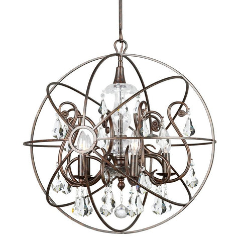 Chandelier Bronze Finish With Crystal #010854-015