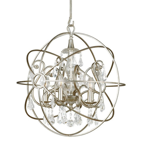 Chandelier Old Silver Finish and crystal #010854-015